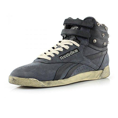 Reebok CLASSIC FREESTYLE HI Zapatillas Sneakers Cuero Gris para Mujer