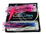 Lobo Lures #215 Skipjack Hybrid Skipjack Hybrid UV Splash Tuna Mahi Marlin Trolling Lure Daisy Chain Pink Tuna Candy