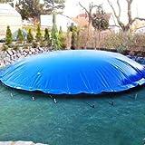 VEVOR Cubierta Inflable de Seguridad para Piscina Diámetro de 5 m Cobertor de Piscina Redondo Tamaño de Piscina de 5 m Lona Inflable de Piscina de PVC Color Azul Fácil de Instalar y Prevenir Escombros