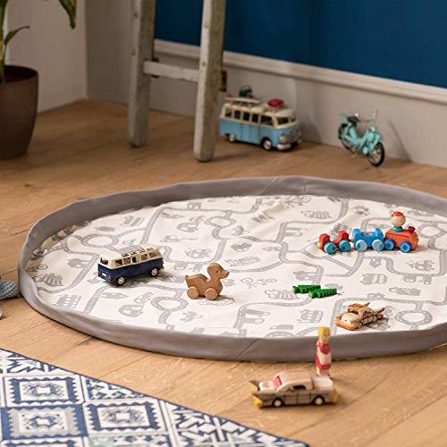 snugo® Auto Aufräumsack handgenäht in Deutschland | Spielsack & Spielmatte in Einem für Kinder & Baby | Ideal für die Aufbewahrung von Spielzeug, Lego und Spielsachen