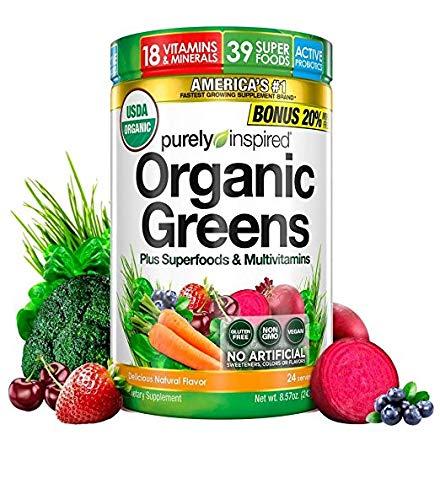 Organic Greens, USDA Organic, Super Greens Powder, Unflavored, 8.57 oz, 24 servings