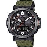 Casio PRW-6600YB-3ER - Reloj (Reloj de pulsera, Unisex, Resina, Negro, Resina, Verde)
