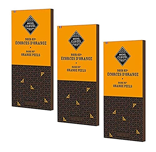 3 x 100 Gram - Amer D Orange 63% Dark Chocolate
