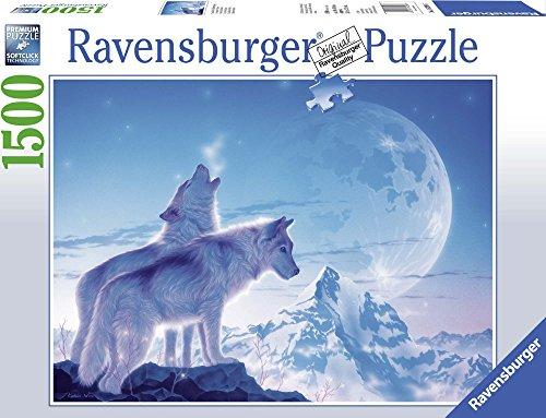 Ravensburger Il Canto del Tramonto, Puzzle 1500 pezzi, Relax, Puzzles da Adulti, Dimensione: 80x60 cm, Stampa di alta qualità, Lupi, Fantasy