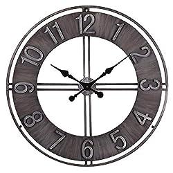 NIKKY HOME Metal Eye Wall Clock, 30'', Black