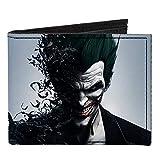 Buckle-Down - Billetera plegable de lona para hombre, diseño de Batman Arkham Origins, 4 pulgadas x 3.5 pulgadas