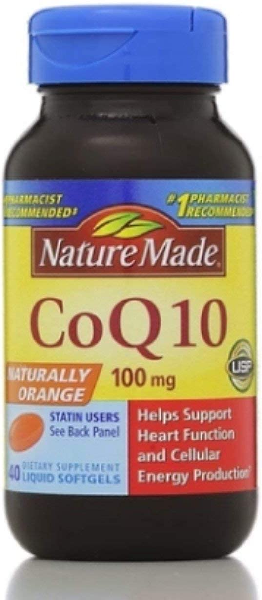 Nature Made CoQ10 100 mg Softgels 5 Brand Cheap Sale Venue Special Campaign 40 Pack ea of