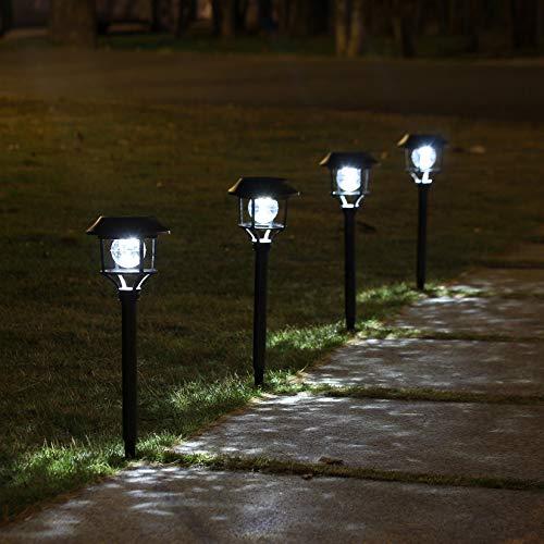 Juego de 6 lámparas solares para exteriores, resistentes al