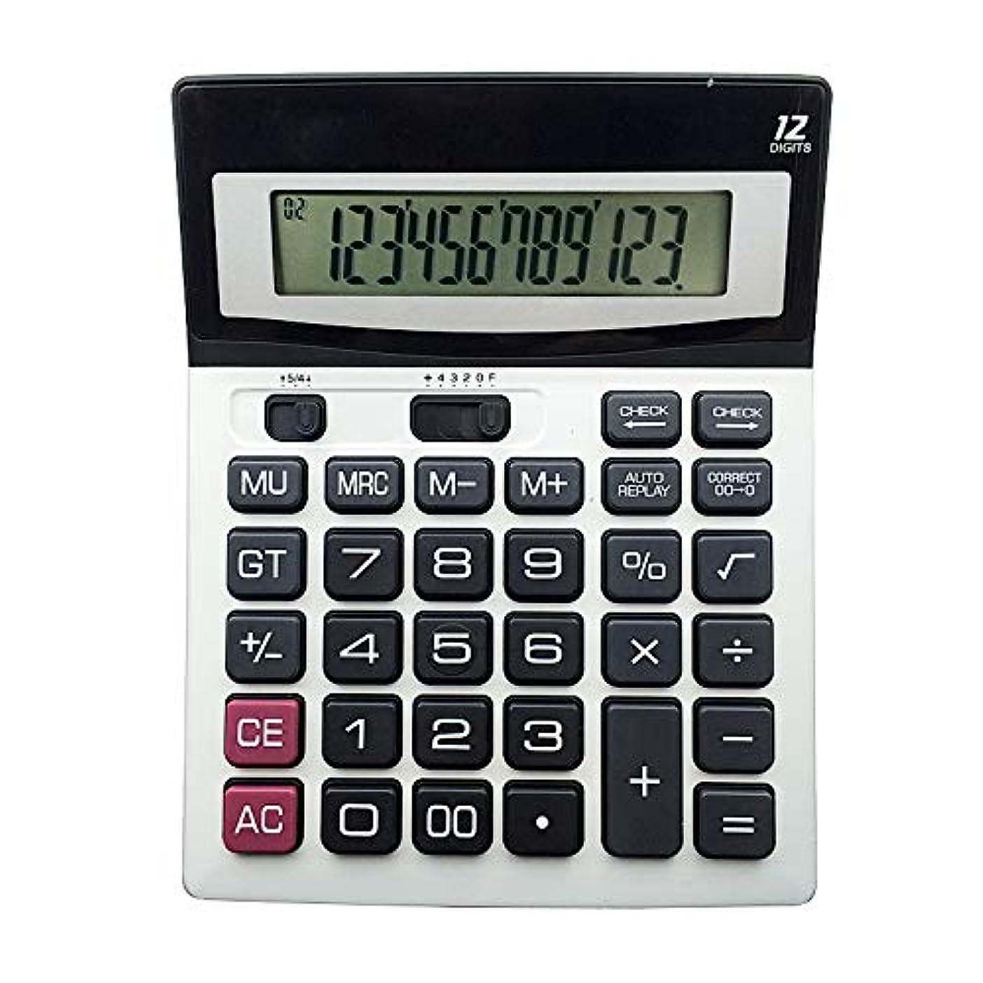 リールにやにや定期的Lanker デスク電卓 ビジネス標準機能 デスクトップ電卓 学校 ホーム オフィス 12桁 KA01