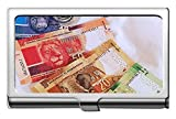 Porta biglietti da visita professionale in acciaio inossidabile, denaro valuta africana Paragrafo ID carta di credito Cassa/Titolare/Porta carte
