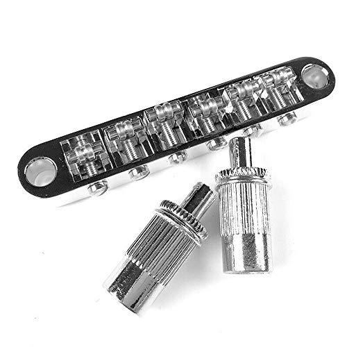 Roller Saddle Tune-O-Matic Bridge for Epiphone Les Paul SG Guitar w/ m8 threaded posts Chrome