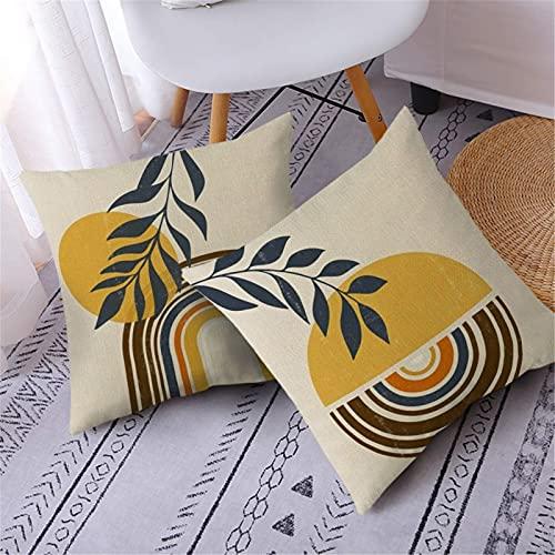 JONJUMP 2 fundas de almohada de algodón decorativas para sofá cama