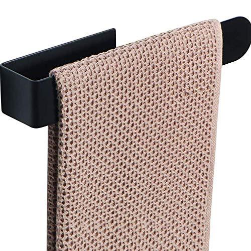 Hourongw Toallero autoadhesivo sin perforaciones, de acero inoxidable para colgar en la pared, toallero de un solo polo, barra de toalla para baño, cocina, oficina