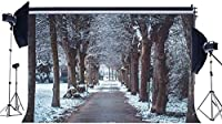 HDWinter Wonderland Backdrop 10x7ft Vinyl Rural Heavy Snow Backdrops Forest Trees Snow Covered Landscape Photography Background for Merry Christmas and Happy HD Year Photo Studio Props170