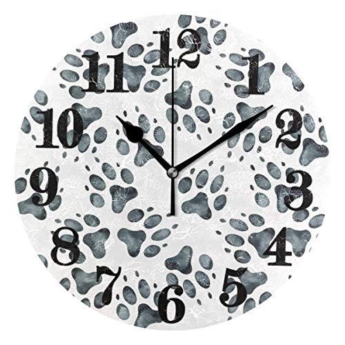 Reloj de pared Art Classic Classic - Reloj de pared redondo gris - Reloj de pulsera de cuarzo con batería - No tictacable
