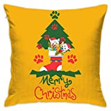 Meowy Christmas Cat Green Tree Ugly Christmas Decorative Home Pillow Covers Square 18x18 Inch (Insert Not Include)