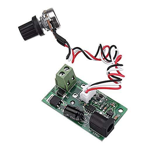 HYY-YY CCMmini Mini Motor Controller PWM DC Motor Governor Board Speed Control Module 3A 6V/12V/24V Universal Spot Steuermodul