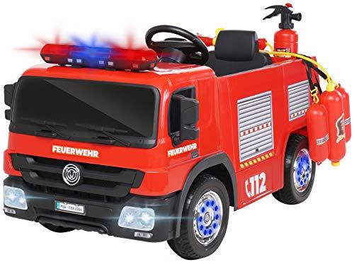 Actionbikes Motors Kinder Elektroauto Polizei / Feuerwehr SX1818 - 2 x 35 Watt Motoren - Fernbedienung - Sirene - Blaulicht - Eva Vollgummireifen (Feuerwehr SX1818)
