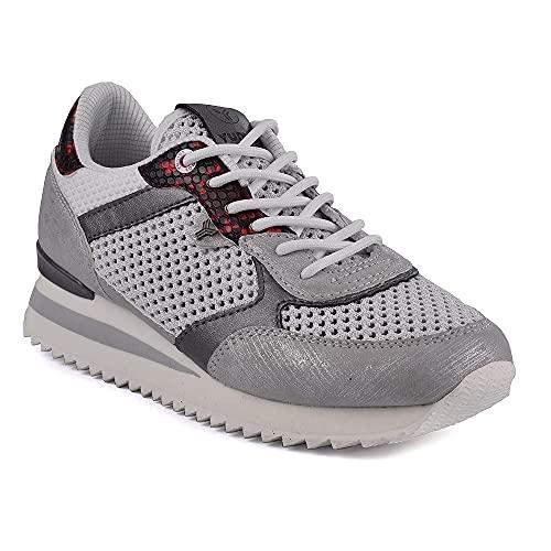 Zapatilla Sneaker Yumas Selene Blanco Fabricado en Piel sintética y Nylon Plantilla Confort Látex para Mujer