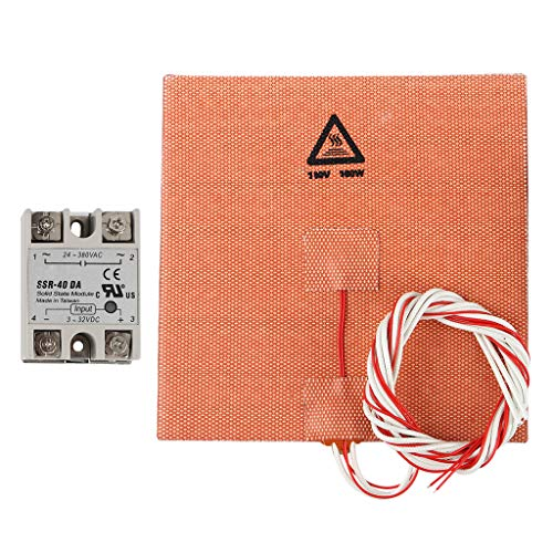 MagiDeal 180W Heatbed 150x150mm Hot Bed Build Plate + SSR-DA Solid State Relay