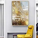 Geiqianjiumai Carteles e Impresiones de Oro Moderno Lienzo de Arte Abstracto Pintura al óleo Sala de Arte nórdico Pintura Decorativa Pintura sin Marco 60x90cm