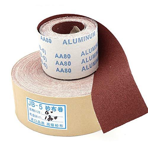 YJIA Geschredderten Schmirgelleinen Rollband JB-5 Schmirgelleinen TJ113 Weichholzmöbel Metall Schmirgelpapier Polier Schleifen und Polieren (Größe : Hand Tearing Sandpaper roll 80#)