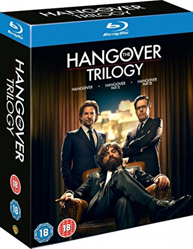 Hangover Complete Movie Trilogy Film [3 Discs] Blu ray Collection Boxset: Part 1, 2, 3 + Extras
