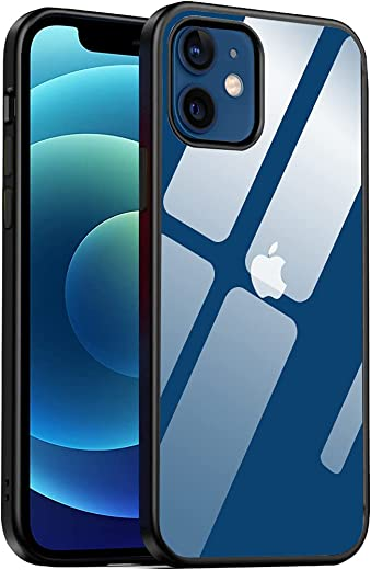 Amozo Back Cover For iPhone 12/ 12 Pro ( Poly Carbonate Black )