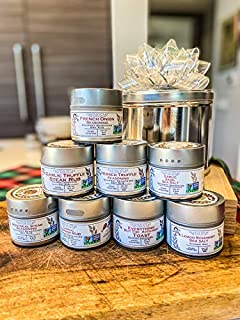 Deluxe Home Chef Flavor Kit | 8 Gourmet Seasonings & Salts In A Handsome Gift Tin with Bow | All Natural, Non GMO | Sustai...