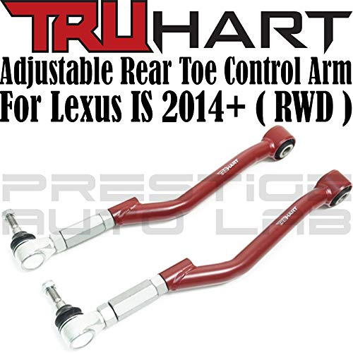 TruHart Rear Adjustable Toe Control Arms for 2014+ Lexus IS300 / IS350 2015-2019 (RWD ONLY)
