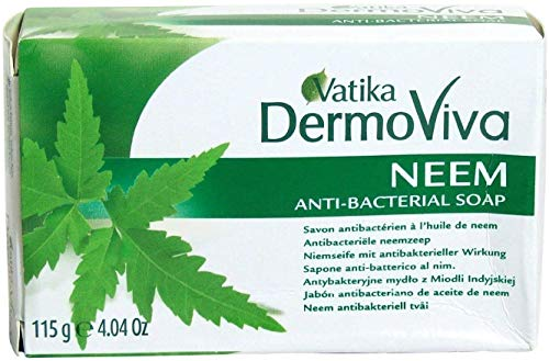 VATIKA Herbal & Natural NEEM SOAP ** Free UK Delivery ** by Shopper's Freedom Herbs and Spices Seasoning - 115g