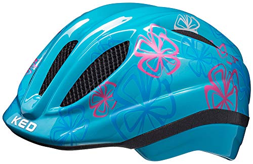 KED Meggy II Trend Helm Kinder dots deep Blue Kopfumfang M | 52-58cm 2021 Fahrradhelm