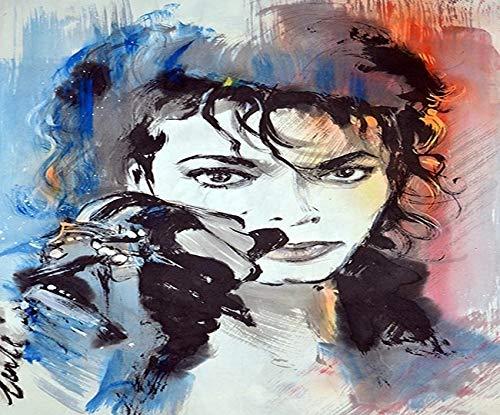 JHGJHK Michael Jackson's unique gift of art oil painting mural (Figure 3)