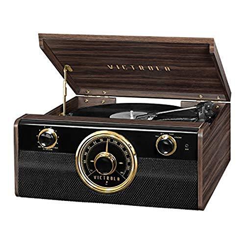 Victrola Wood Metropolitan Mid Century Modern Bluetooth Record Player