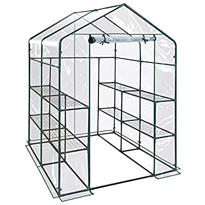 BenefitUSA Outdoor Mini Walk-in Greenhouse for Plants/Flowers/Vegetables House Yard (PE, 56''x28.7''x76.7'')