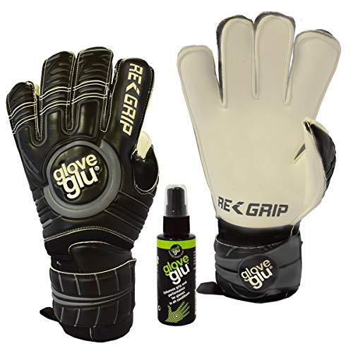 Guantes de portero ReGrip de gloveglu, con protección de dedos extraíble, spray Regrip, tallas 5-11, 8