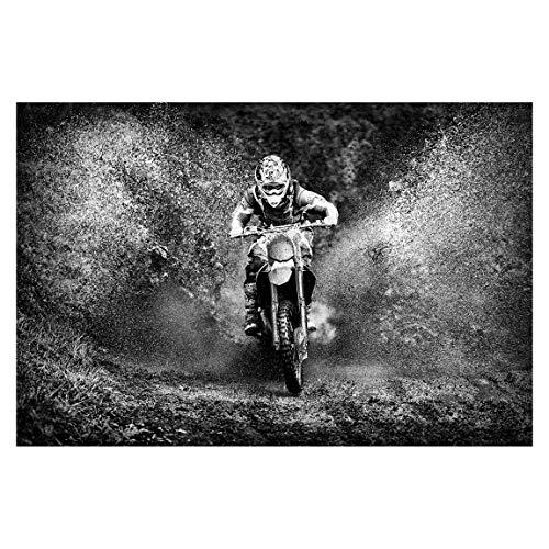 Vliestapete Motocross im Schlamm, HxB: 225cm x 336cm