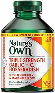 Nature's Own Triple Strength Garlic C Horseradish 200 Tablets product of Australia