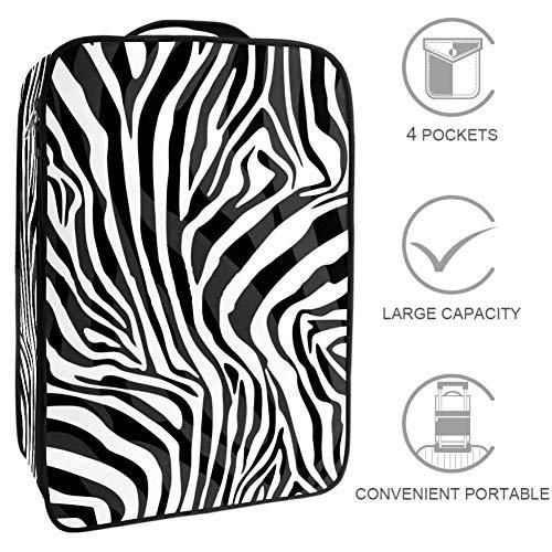 TIZORAX - Caja organizadora de zapatos con textura de piel de leopardo para almacenamiento de zapatos
