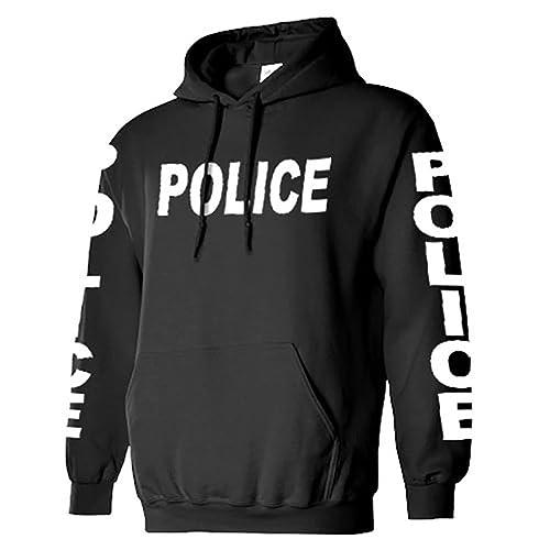 6876f534 Police - cops Sheriff Deputy - Adult Unisex Warm Novelty Duty Hoodie, XL,  Black