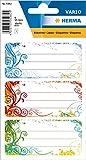 HERMA 5982 Buchetiketten 'Spirit' selbstklebende Heftetiketten mit Motiven für die Schule für Kinder, Mädchen und Jungen, 9 Schuletiketten