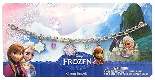 Disney 755055- Frozen Braccialetto in Metallo con Ciondoli, 18 x 9 cm
