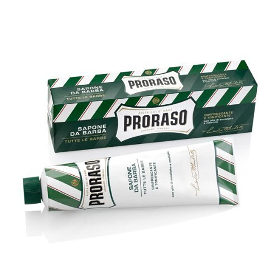 避ける二層かるProraso Eucalyptus & Menthol Shaving Cream - 150 ml. by Proraso [並行輸入品]