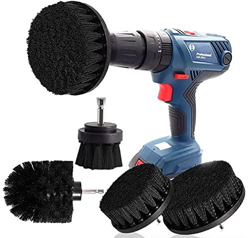 Bohrmaschine Bürstenaufsatz Bohrbürsten Befestigung Scrubber Reinigung Kit zum Reinigen der Autodusche Fliesenräder Teppichmörtel Polster 4PCS