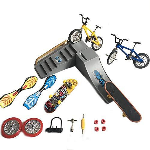 WWmily Juego de 1 patinete de aleación para dedos con diseño de dedo y mini monopatines interactivos, juguetes de dedo para entrenamiento de dedos, juguete para niños, niñas y fiestas