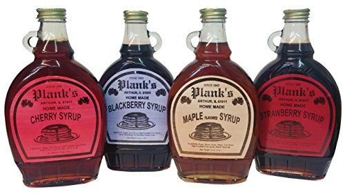 Amish Syrup flavored (Maple, Cherry, Strawberry, Blackberry)