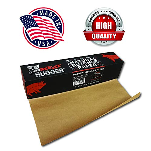 Natural Butcher Paper Dispenser Box (17.25 Inch by 175 Feet Roll) - Food Grade Meat Packing and Wrapping Paper, Unbleached and Uncoated