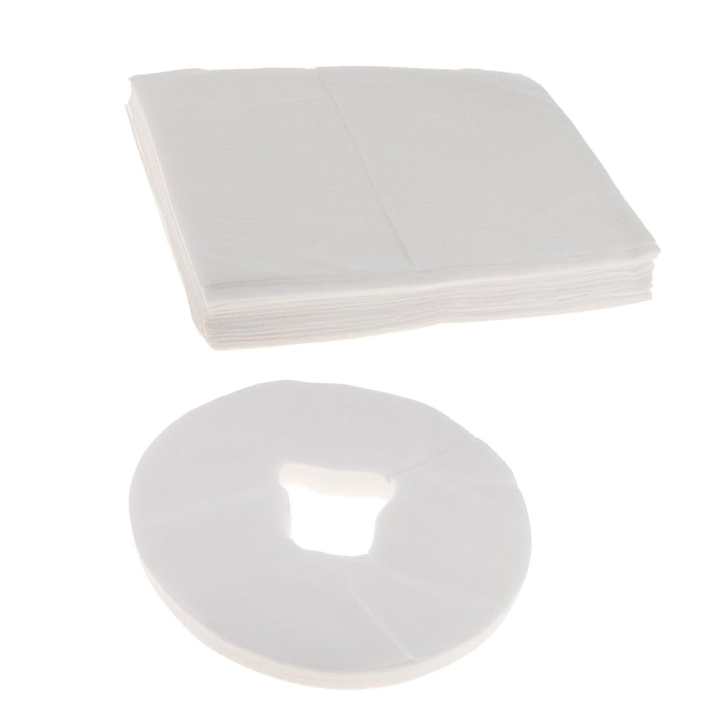 塩誤解するナンセンスCUTICATE 100ホワイト使い捨てマッサージテーブルフェイスクレードルクッションカバー+10ベッドシーツ