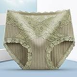 Leftroad Bragas sin Costuras para Mujer,Ropa Interior de Gran tamaño antibacteriana de Entrepierna de algodón Puro-Green_M #,Señoras Encaje Bragas de Moda
