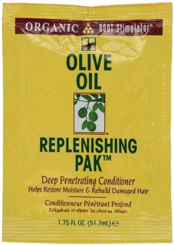 Organic Revitalisant en profondeur à base d'huile d'olive Replenishing Pack - Stimule la racine des cheveux - Hydrate et répare les cheveux abîmés - 50 ml